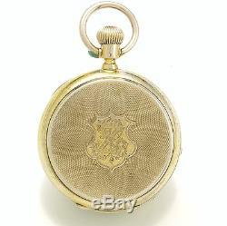 Antique Chronograph Pocket Watch C1885 Chronograph Jump 1/4second, Hack Center