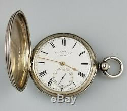 Antique Dent Fusee Silver Hunter Pocket Watch Watchmaker To The Queen 1868