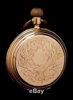 Antique Double Dial J. Trilla Solid-Gold Pocket Watch. Switzerland, Circa 1890