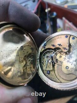 Antique ELGIN OVERLAND Pocket Watch Yr. 1897 Railroad 20year Case Runs