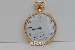Antique E. Howard & Co Boston 23j 14k Solid Gold Open Face Pocket Watch