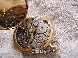 Antique E- Howard Pocket Watch 14K Gold 23 Jewels Original Box Paper
