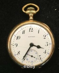 Antique E. Howard Watch Co. Pocket Watch Ser#985332 Sz 16s 17 Jewels Gold Filled