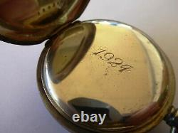 Antique Early 1900s NIDOR Pocket Watch Engraved 1924 EB