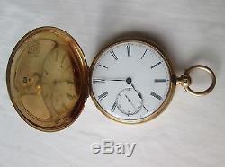Antique Edwardian 18ct Gold Full Hunter Pocket Watch