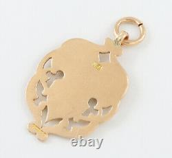 Antique Edwardian 9Ct Gold Fob / Pendant / Medal For Watch Chain / Necklace 1903