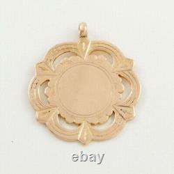 Antique Edwardian 9Ct Rose Gold Fob / Pendant / Medal For Watch Chain / Necklace