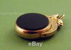 Antique Edwardian Hallmarked 9ct Gold Lion Topped Spinning Albert Chain Fob Seal