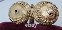Antique Elgin 14K Solid Gold Ruby Hunter Case Pocket Watch 1907