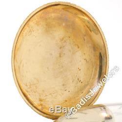 Antique Elgin 6s 11j Pocket Watch Floral Engraved Etched 14K Tri Color Gold Case