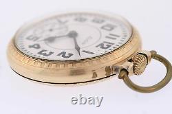 Antique Elgin BW Raymond 12k GF 14s 21 Jewel Railroad Star Case Pocket Watch