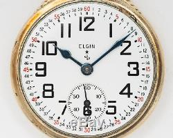 Antique Elgin Model 571 21 Jewel 16 size Pocketwatch withMontgomery Dial