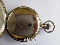Antique Elgin full hunter, sterling silver pocket watch. 1907. Working
