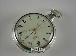 Antique English Rack and Pinion Lever Fusee key wind pocket watch, Rob Roskell