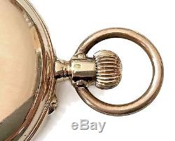 Antique Favre Freres Swiss a 14K Solid Gold Pocket Watch. Marked Brequet 50 mm