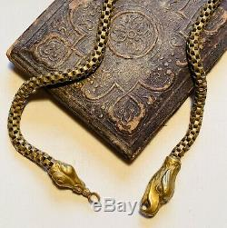 Antique Figural Eagle head pocket watch chain. Rolled gold 12 chain. Americana