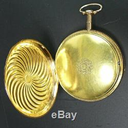 Antique French 18 K Gold Quarter Repeater Pocket Watch In G. W. O. C. 1820