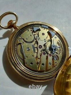 Antique French Gold 18K Minute Repeater L. LEROY Pocket Watch