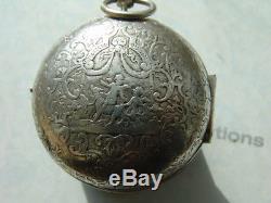 Antique French Silver Verge Oignon circa 1720