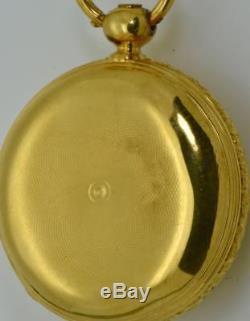 Antique Georgian Memento Mori Masonic Skull 18k gold, Enamel&Diamonds watch. 103g