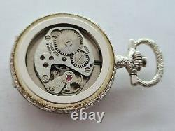 Antique Gradus 17J Small Full Hunter Solid Silver Pocket Watch Box VGC Rare