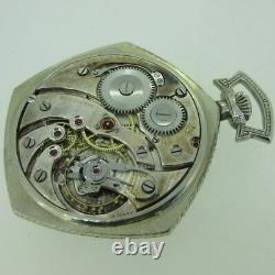 Antique Gruen Veri-Thin Precision 12s 17J Swiss 14k WGF Pocket Watch with Box an