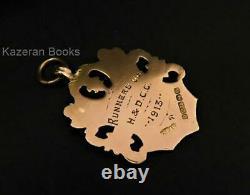 Antique Hallmarked 9ct Rose Gold Pocket Watch Albert Chain Medal Fob 1912
