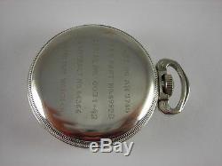Antique Hamilton 16s 4992B 22 jewels Navigational Silver pocket watch, 1941