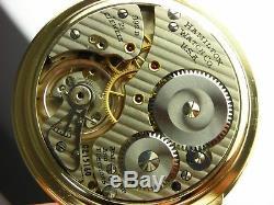 Antique Hamilton 992B 16s Rail Road pocket watch. Gold filled. 21 jewels. 1948