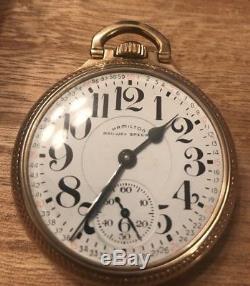 Antique Hamilton 992B 21 Jewel Railway Special Pocket Watch Gold-Filled Case