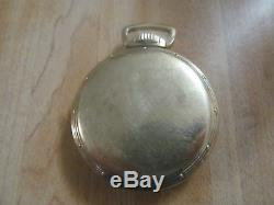 Antique Hamilton Pocket Watch 21 Jewels 10 K Gold Filled Estate Sale Silver Coin