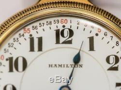 Antique Hamilton Watch 21 Jewel Keystone GF Montgomery Dial Railroad Grade