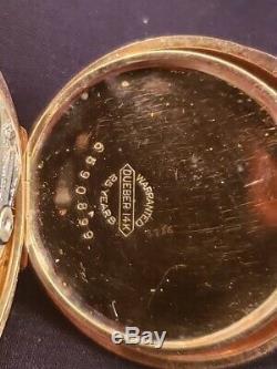 Antique Hampden 14k Yellow Gold Pocket Watch Full Hunter Case
