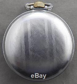 Antique Hampden 21 Jewel, Lever Set, 18 Size Railroad Pocket Watch