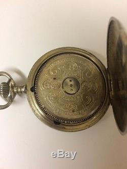 Antique Hebdomas 8 Day Pocket Watch Works, But Needs A Repair