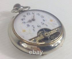 Antique Hebdomas Pocket Watch Spares/Repairs White Metal