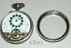 Antique Hebdomas Swiss Made 8 Day Visible Balance Pocket Watch 8 Jours 8 Tage