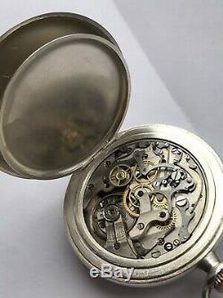 Antique Heuer Cal Voljoux 61 Pocket Chronograph Watch