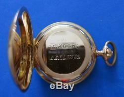 Antique International Watch Company Iwc Pocket Watch In Iwc Solid 14k Gold Case