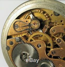 Antique Iwc International Watch Co Pallweber Jump Hour Pocket Watch Direct Read