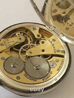 Antique J. W. Benson London Silver Pocket Watch