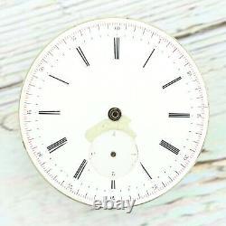 Antique Jules Huguenin Key Independent Train / Dead Second Pocket Watch Movement