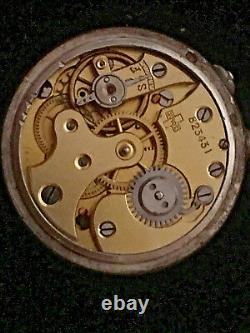 Antique Lady Racine 800 Silver Guilloche Enemal Lapel Watch