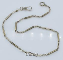 Antique Liberty 1925 14k White Gold Pocket Watch Chain 9.6 Grams 14