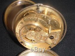 Antique Liverpool Verge Fusee Silver Case Pocket Watch Porcelain Face Key Wind