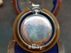 Antique London Gold Smiths Silver Fusee Pocket Watch