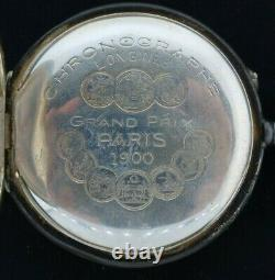 Antique Longines Chronograph Manual Wind Pocket Watch Swiss +. 900 Silver Case