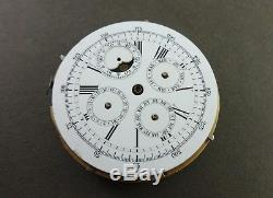 Antique MINUTE REPEATER Chronometer Triple Date & Moon Phases Movement & Dial