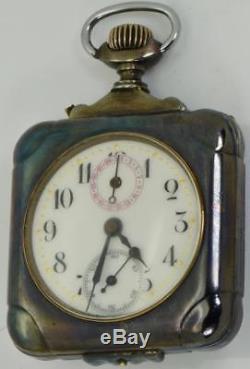 Antique Memento Mori Masonic/Doctor's Skull Calendar LeCoultre square case watch