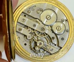 Antique Modernista Jump Hour gild case pocket watch. A project for repair